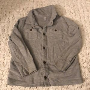 Gray boys old navy long sleeve button down